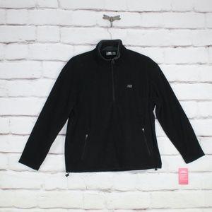 NEW New Balance Black Fleece 1/4 Zip Pullover Sz L